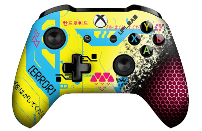 Cyberpunk 2077 xbox one controller in yellow