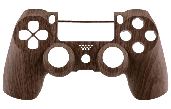 PS4 brown wood controller shell