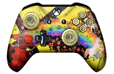 deadpool xbox one controller in yellow