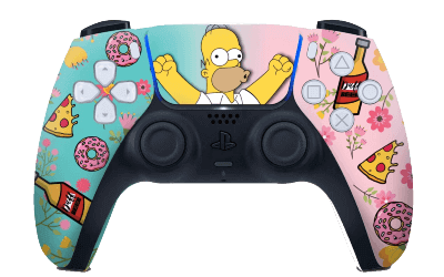 Homer Simpsons Donut PS5 controller
