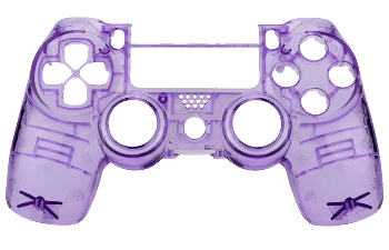 PS4 clear purple controller shell