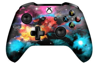 galaxy rainbow sky xbox one controller