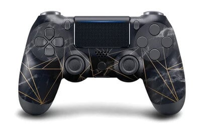 PS4 black and gold controller