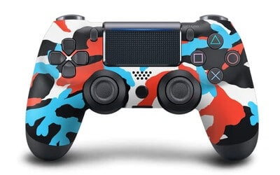 red blue camo controller for PS4